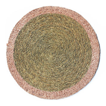 hand woven grass placemat set of two rose quartz
