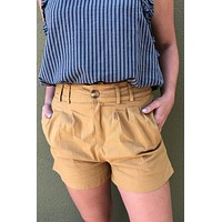 Night Out Shorts- Gold