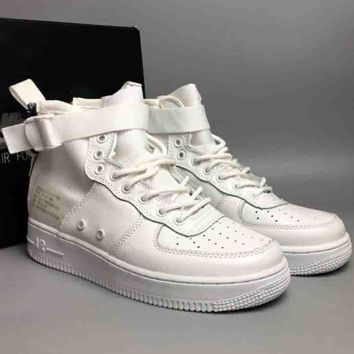 NIKE SF-AF1 MID Air Force One Trendy High Top Shoes F-CSXY full white