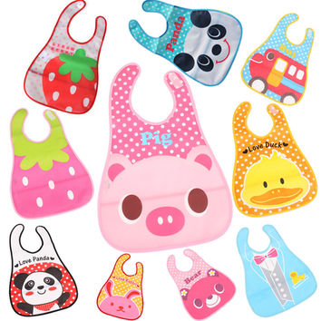 2016 High Quality Baby Bibs Waterproof  Fashion Cartoon Styles Baby Wear Burp Clothes Bibs & Burp Cloths