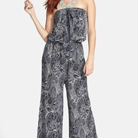 Liberty Love Strapless Print Jumpsuit (Juniors) | Nordstrom
