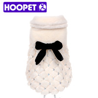 HOOPET pet clothes elegant Luxury  fur Winter overcoat samll dog cat clothes bowknot Chihuahua