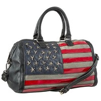 MKF Collection American Flag Designed Hobo Duffel Bag (Great for July 4)