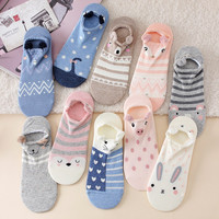 2017 New arrival Lovely Cartoon Women Cotton Socks High Quality Cotton Ship Sox Japanese Fashion Style Socks For Lady girls