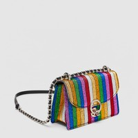 STRIPED MULTICOLOR MINI CROSSBODY BAGDETAILS