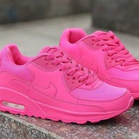"""""""Nike Air Max 90"""" Women Sport Casual Solid Color Air Cushion Sneakers Fashion Running Shoes"""