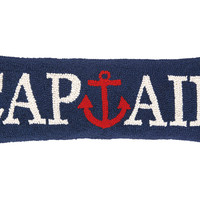 Captain 8x24 Wool Pillow, Navy, Decorative Pillows