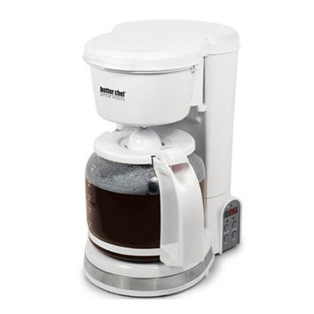 Better Chef 12-cup digital programmable coffeemaker white