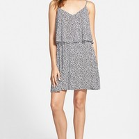 Junior Women's Mimi Chica Print Popover Dress