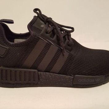 LMFON Adidas NMD R1 Runner 3M Triple Black Reflective BY3123 Boost Size 9