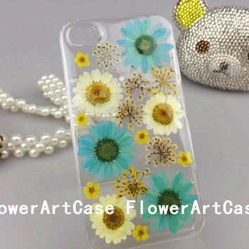 FlowerArtCase unique daisies dried real pressed flower iphone 6 case iphone 6 plus case samsung galaxy note 4 case cell phone cases cover