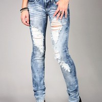 Storm Shred Straight Denim | Trendy Jeans at Pink Ice