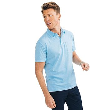 Island Road Jersey Polo in Sky Blue by Southern Tide
