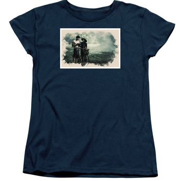 Watercolor Conseptual Landscape - Deep In The Forest - Women's T-Shirt (Standard Fit)