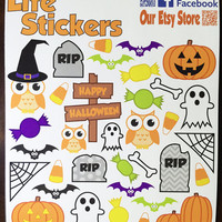 Halloween Stickers. Perfect for decorating your planner or scrapbook. Stay organized with Life Stickers.