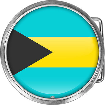 Bahamas Flag Belt Buckle
