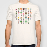 Video Games Pixel Alphabet T-shirt by PixelPower
