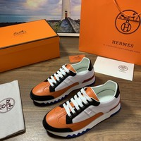 Hermes  Men Fashion Boots fashionable Casual leather Breathable Sneakers Running Shoes