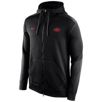 Oklahoma State Cowboys Nike KO Chain Fleece Full Zip Performance Hoodie – Black