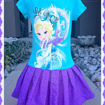 girls FROZEN dress Let It Go Queen Elsa 4/5 10/12 and 14/16 ready to ship today