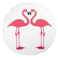 flamingo-birds round pillow