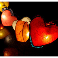 Rainbow Love Heart Lights
