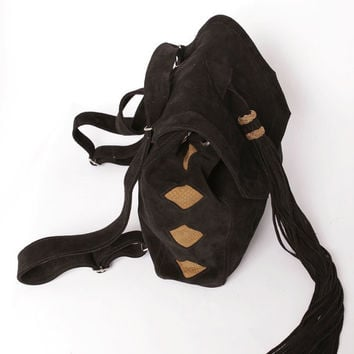 On Sale was 190 usd .Cuelebra suede backpack  & shoulder bag