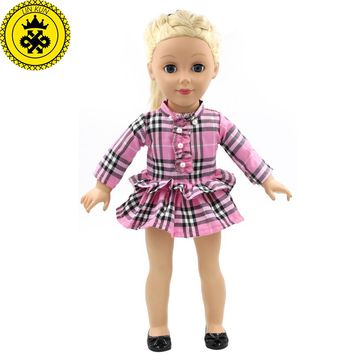 """Handmade 18 inch American Girl Doll Clothes 15 Style Multi Color Skirt Suit Fits 18"""" American Girl Doll D-7"""