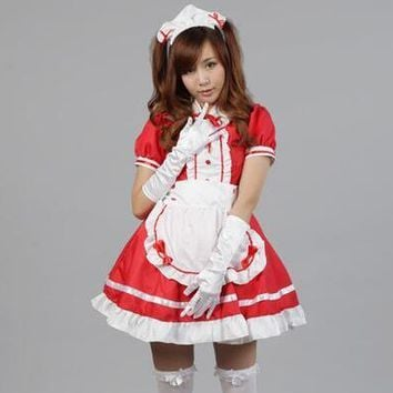 New Sexy Sweet Gothic Lolita Dress French Maid Costume Anime Cosplay Sissy Maid Uniform Plus Size Halloween Costumes For Women