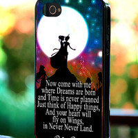 Silicone - Plastic - Disney Peter Pan Quote Never Grow Up - iPhone 4/4s, 5, 5s, 5c, Samsung S3, S4