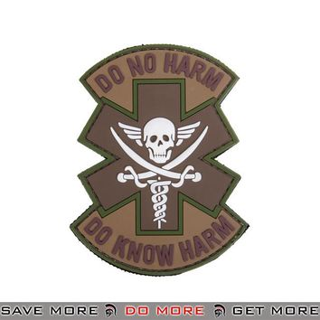 Lancer Tactical Velcro Morale Patch AC-481B - PVC Do No Harm Skull, Arid