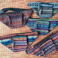 Tribal Fanny pack Festival Boho Aztec Hippie Style Men Women belt belly Bags Bum Pouch Travel hip sack phanny waist bag Gypsy Burning man