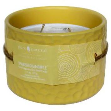 Pure & Natural™ Ceramic Jar Candle Spanish Chamomile - Small : Target
