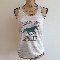 effin majestic af, unicorn, unicorns, rainbow, unicorn shirt, rainbow unicorn, fantasy, trending, tumblr, trending tank, as fuck