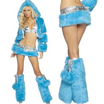 Turquoise and Silver Jacket Outfit : Light-up Rave Costumes from RaveReady.com