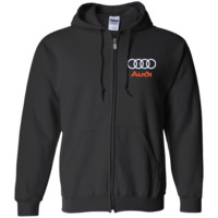 Audi Embroidered Zip Up Hooded Sweatshirt
