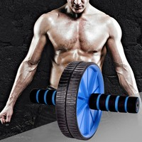 New Dual Wheel AB Roller Workout Wheel Fitness Gym Abdominal Exercise Fitness Equipment