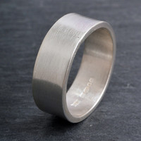 Sterling silver secret message ring ~ just breathe ~ choose your size and finish message ring engraved custom ring band ring 6mm