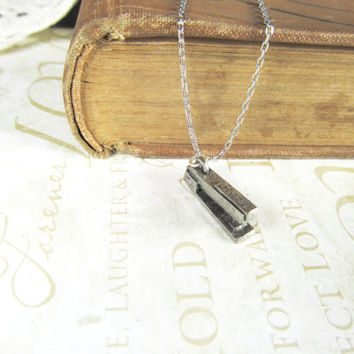 MILTON stapler charm necklace (silver)