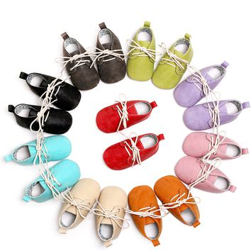 Lace-up Leather Baby's First Moccasins Walkers