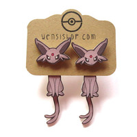 Espeon (Pokemon Inspired) Cling Earrings