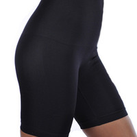 High Waist Long Leg Smoothing Shapewear - Black or Nude