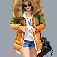 Women Parka down cotton  jacket  2016 Winter Jacket Women thick Snow Wear Coat Lady Clothing Outerwear Female Jackets Parkas