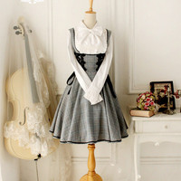 Grey academic overall dress