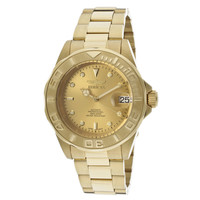 Invicta 13929 Men's Pro Diver Gold Tone Dial Gold Plated Steel Bracelet Automatic Dive Watch