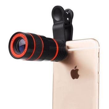 Black Universal 8X Optical Zoom Phone Camera Lens