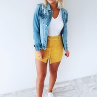 Takes Me Back Jacket: Denim