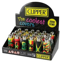 Clipper Silicone Sleeve Lighter Jamaica (Pack of 4)