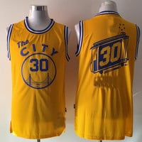 City 30 Yellow Classic Basketball Jersey Fastion Men Sport Basketball Wear Yellow Shirt Stitched Jerseys Size S-2XL