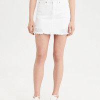 AE Highest Waist Denim Skirt, White